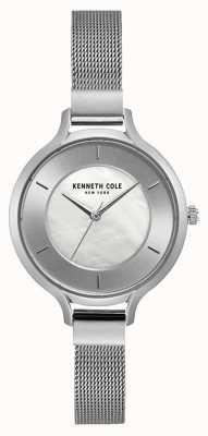 Kenneth Cole Pulsera de malla de acero inoxidable para mujer en plata new york KC15187002