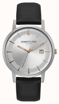 Kenneth Cole Exhibición de la fecha de los marcadores del oro color de rosa de la esfera de Nueva York KC15202001