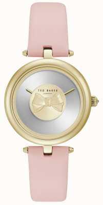 Ted Baker Correa de cuero dorado para mujer andrea gold bow TE15199001
