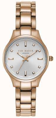 Ted Baker Pulsera para mujer Zoe plateada rosa oro acero inoxidable TE50006001