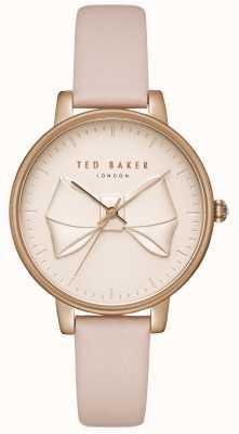 Ted Baker Arco de champaña para mujer con esfera de arco rosa caja oro rosa piel rosa TEC0185001