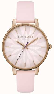 Ted Baker Womans kate estrella rosa dial rosa caja de oro correa de cuero rosa TE15200001