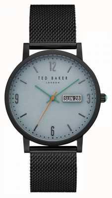 Ted Baker Grant dial azul claro negro pvd caja malla brazalete TE15196014