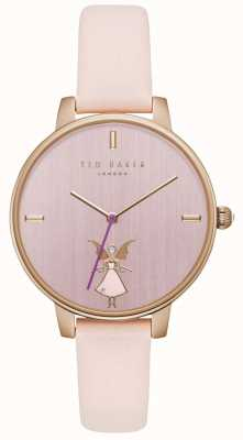 Ted Baker Womans kate hada rosa dial oro caja rosa correa de cuero TE15162004