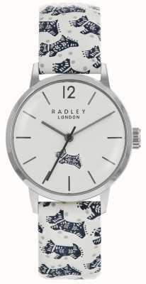 Radley Caja popular de acero inoxidable plateada de plata del dial del perro popular de Womans RY2571