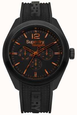 Superdry Navigator elegante negro naranja destacados SYG215BB