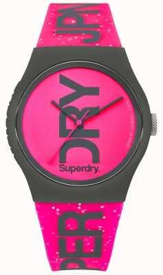 Superdry Correa y esfera rosa brillante brillo urbano para mujer SYL189PP