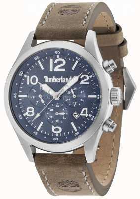 Timberland Correa de cuero marrón dial multi Ashmont azul 15249JS/03
