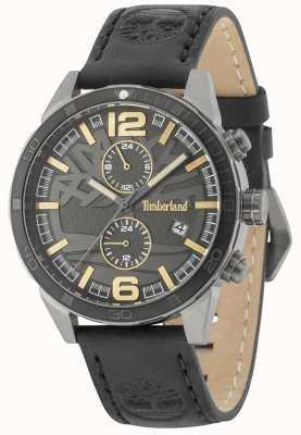 Timberland Sagamore negro dial negro correa de cuero 15256JSUB/61