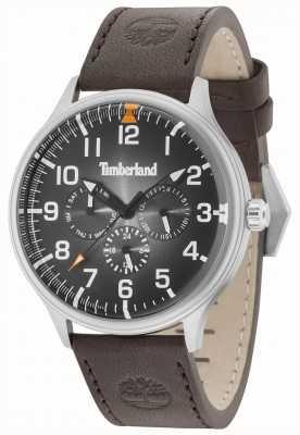 Timberland Blanchard esfera negra correa de cuero marrón oscuro 15270JS/02