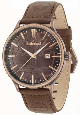 Timberland Correa de cuero marrón marrón envejecida marrón antiguo de Edgemont 15260JSQBZ/12