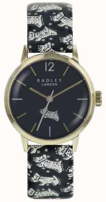 Radley Caja de acero inoxidable del pvd del oro del dial del perro popular de Womans RY2570