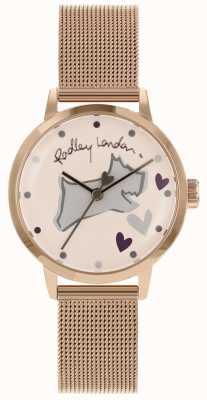Radley Love lane pulsera de malla de caja de oro rosa de acero inoxidable RY4324