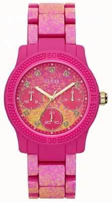 Guess Reloj funfetti rosa para mujer W0944L3