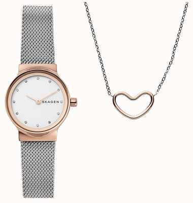 Skagen Collar de corazón de regalo katrine para mujer SKW1101