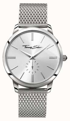 Thomas Sabo Rebel spirit second subdial malla de acero inoxidable plata WA0300-201-201-42