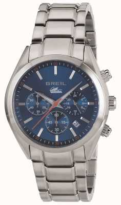 Breil Manta City brazalete de acero inoxidable cronógrafo azul TW1605