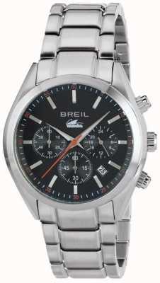 Breil Manta City acero inoxidable cronógrafo brazalete negro esfera TW1606