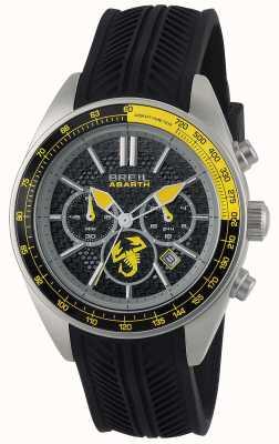 Breil Abarth acero inoxidable ip negro cronógrafo negro y amarillo TW1691