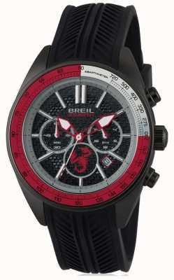 Breil Abarth acero inoxidable ip negro cronógrafo negro y rojo dia TW1693