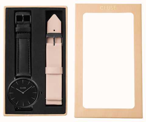 CLUSE La boheme gift set black case correa desnuda CLA002
