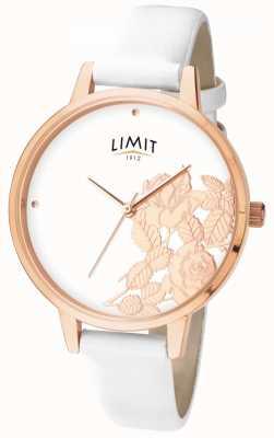 Limit Llana floral blanca brillo plano para mujer 6290.73