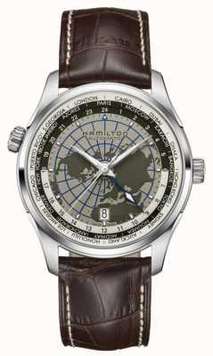 Hamilton Para hombre jazzmaster gmt automático esfera mundial H32605581