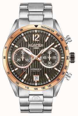 Roamer Reloj de plata para hombre Chrono II superior 510902496450