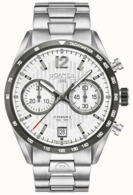 Roamer Reloj de plata para hombre Chrono II superior 510902411450