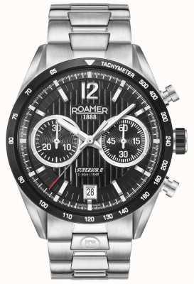 Roamer Reloj de plata para hombre Chrono II superior 510902415450