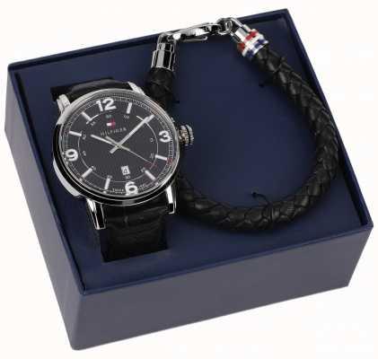 Tommy Hilfiger Reloj de pulsera de cuero para hombre y regalo 2770026