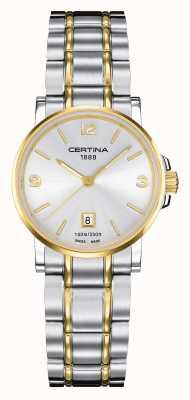 Certina Reloj de mujer ds caimano two tone C0172102203700