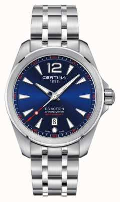 Certina Mens ds action blue dial reloj C0328511104700