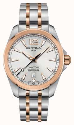 Certina Reloj cronómetro ds action para hombre | correa de acero inoxidable | C0328512203700