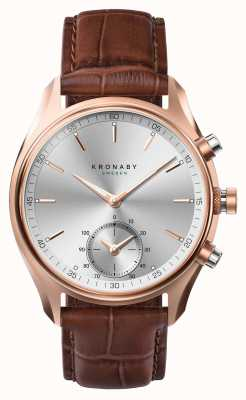 Kronaby 43 mm sekel * visto en gq bluetooth rosegold / leather a1000-2746 S2746/1