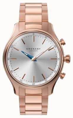 Kronaby 38mm sekel bluetooth rosa oro metal pulsera smartwatch A1000-2747