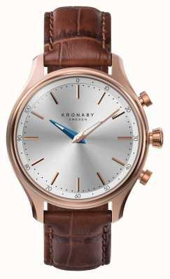 Kronaby 38mm sekel bluetooth oro rosa correa de cuero smartwatch A1000-2748