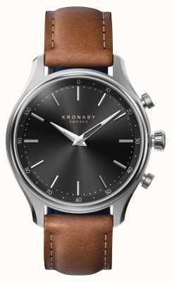 Kronaby 38mm Sekel bluetooth acero correa de cuero smartwatch A1000-2749
