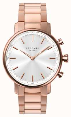 Kronaby 38mm quilates bluetooth pulsera de oro rosa plata smartwatch A1000-2446