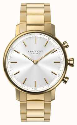 Kronaby 38mm quilates pulsera de oro bluetooth plata esfera reloj inteligente A1000-2447