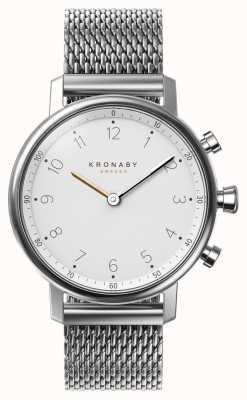 Kronaby 38mm nord bluetooth pulsera de malla de acero smartwatch A1000-0793
