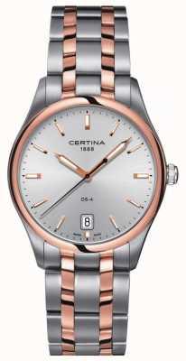 Certina Reloj de cuarzo ds-4 de dos tonos para hombre C0224102203100