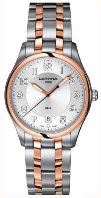 Certina Reloj de cuarzo ds-4 de dos tonos para hombre C022.410.22.031.00