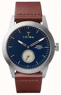 Triwa Duke spira marrón clásico plateado SPST104-CL010212