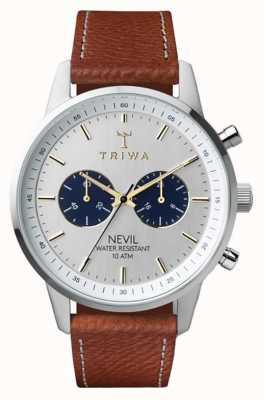 Triwa Loch nevil cayó marrón cosido clásico 2 NEST116-010212