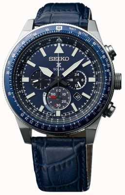 Seiko Mens sky prospex solar watch blue SSC609P1