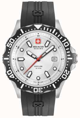 Swiss Military Hanowa Patrol platea la correa negra del silicón del dial 06-4306.04.001SM