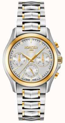 Roamer Searock ladies chrono pulsera de plata y oro 203901471520