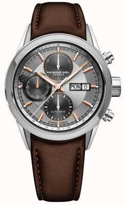 Raymond Weil Reloj cronógrafo automático independiente para hombre 7731-SC2-65655
