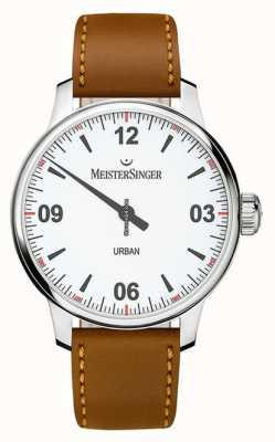 MeisterSinger Esfera blanca urbana opalina plata UR901